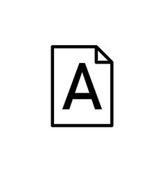 file word a icon can be used for web logo mobile vector image
