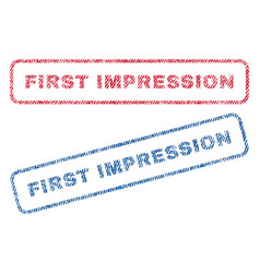 First impression textile stamps vector