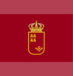 Flag region murcia in spain vector