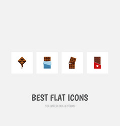 Flat icon chocolate set of bitter wrapper vector