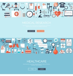 Flat medical background vector image