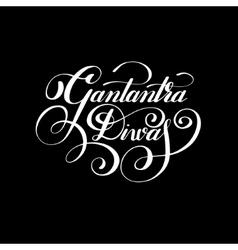 Gantantra Diwas handwritten ink lettering vector