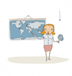 geography teacher vector image