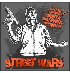 Ghetto Warriors Gangster on vector