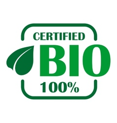 Green bio label or sign vector image