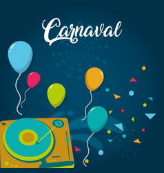 Happy carnaval card vector