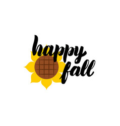 Happy fall calligraphy vector