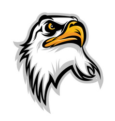 Hawk eagle head usa logo mascot 02 vector