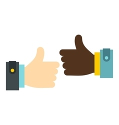 International gesture approval icon flat style vector image