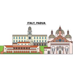 Italy padua city skyline architecture vector