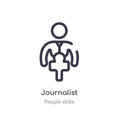 Journalist outline icon isolated line from people vector