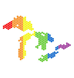 Lgbt spectrum dot great lakes map vector