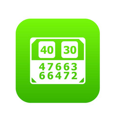 Match score board icon green vector