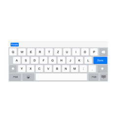 mobile keyboard for tablet computer vector image