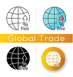 Non-tariff barriers icon tax free trade import vector