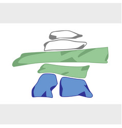 Nunatsiavut flag vector