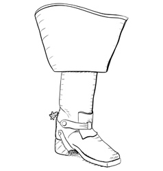 Old style boot with spurs EPS8 vector