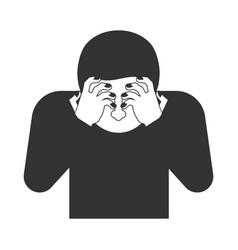 omg sign face palmed symbol oh my god vector image