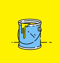 open paint can icon vector image