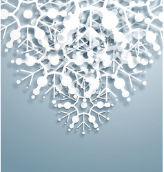 Overlapping snowflakes vector