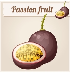 Passion fruit Maracuja Cartoon icon vector image