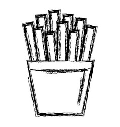 Potatoes fries isolated icon vector