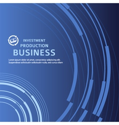 presentation business background blue booklet vector image