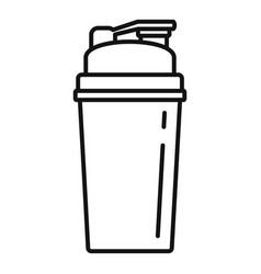 Protein shaker icon outline style vector