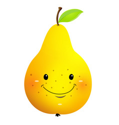 raw pear cartoon character vector image