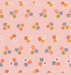 scandinavian ditsy flowers seamless vector image