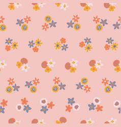 Scandinavian ditsy flowers seamless vector