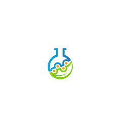 science technology lab bottle logo vector image