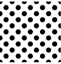 Seamless black and white polkadot pattern vector