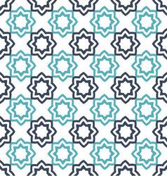 Seamless floral geometric pattern Oriental vector