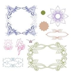 Set of colorful design elements Doodle hand drawn vector image