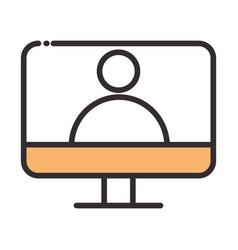 social media computer avatar digital internet vector image