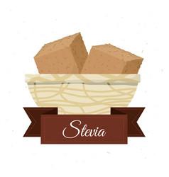 stevia natural sweetener inside bowl vector image