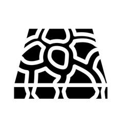 Stone floor glyph icon vector
