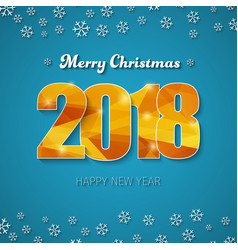 template of a square banner merry christmas vector image