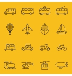 thin line icons transport vector image
