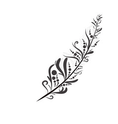 tribal graphic feather vector image