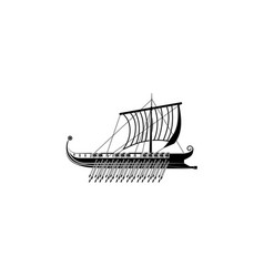 trireme icon galley icon black on white vector image