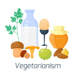 vegetarian food diet types vector image