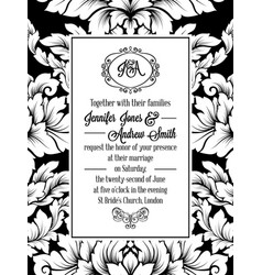 vintage delicate formal invitation card vector image