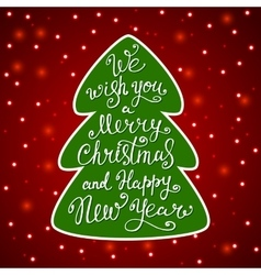 We wish you a Merry Christmas greeting card vector