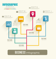 web infographic flowchart template vector image