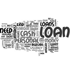 What kind of personal loan do you need text word vector