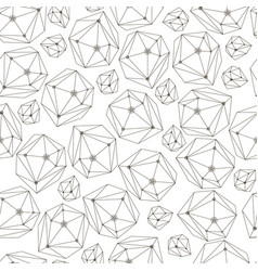 abstract background with framework crystals vector image vector image