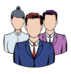 business team icon icon cartoon vector image vector image