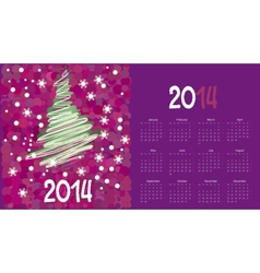 calendar to a new 2014 year vector image vector image